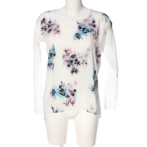 Warehouse Langarm-Bluse Blumenmuster Casual-Look