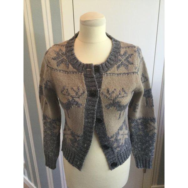 Warme Norweger-Jacke aus Wolle