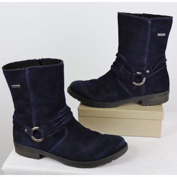 Warme  Winterstiefel Ricosta tex Größe 38 Nachtblau Dunkelblau Schnalle Lederstiefel Bequem