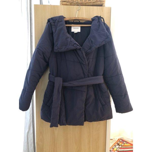 Warme Winterjacke dunkelblau Monki