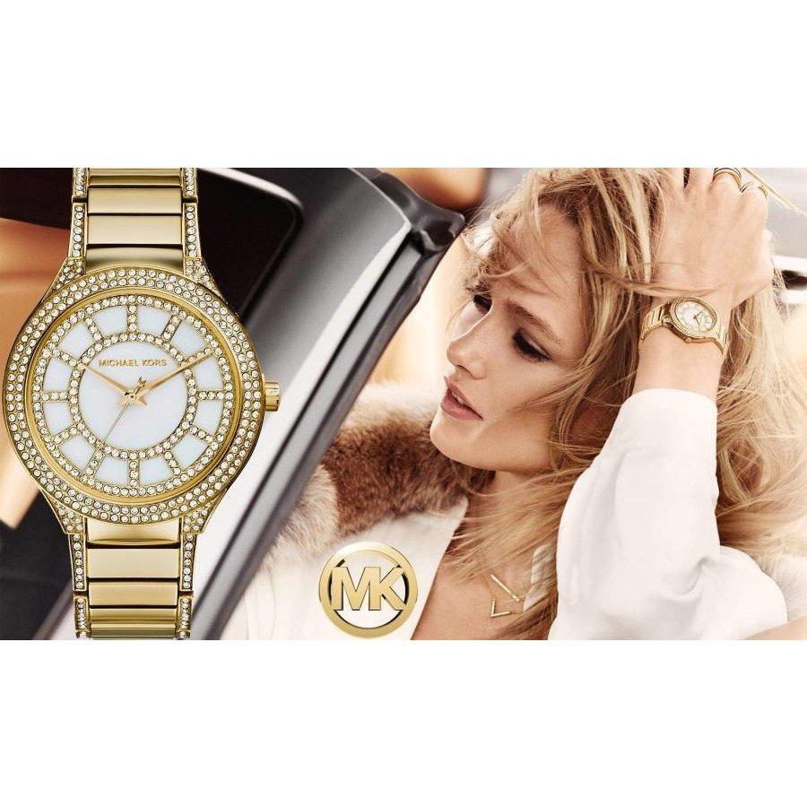 Wasserdichte goldfarbene Michael Kors Uhr