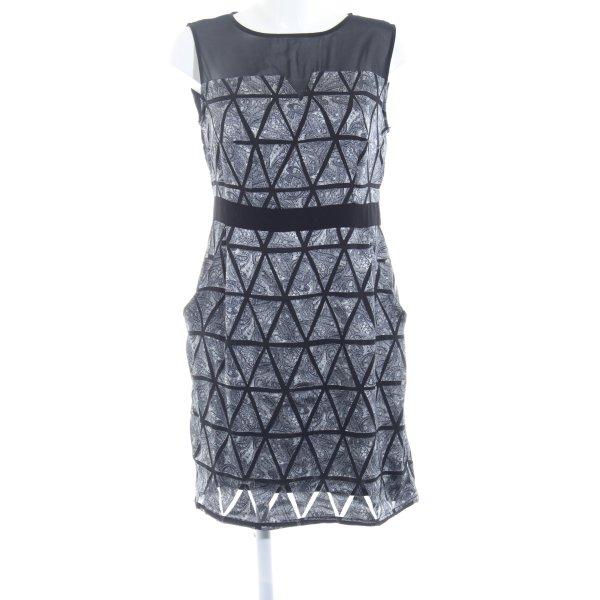 Wearhouse Cocktailkleid schwarz-weiß abstraktes Muster Casual-Look