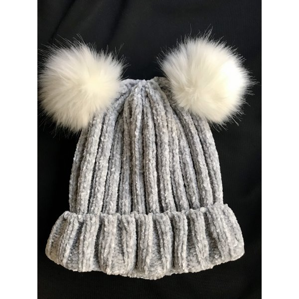 C&A Knitted Hat light grey-white