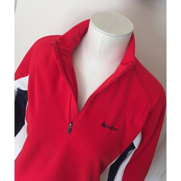 Weicher Fleece-Pullover in Rot