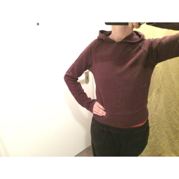 H&M Jersey con capucha púrpura Algodón