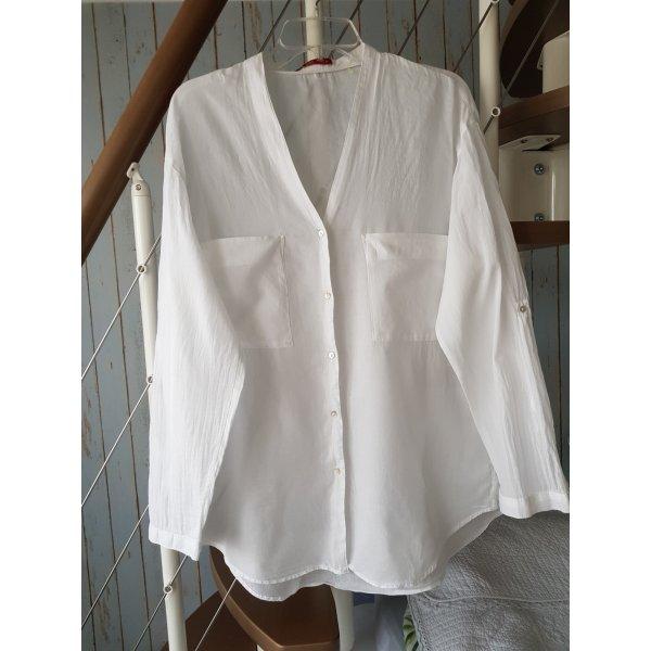 edc Koszulowa bluzka biały