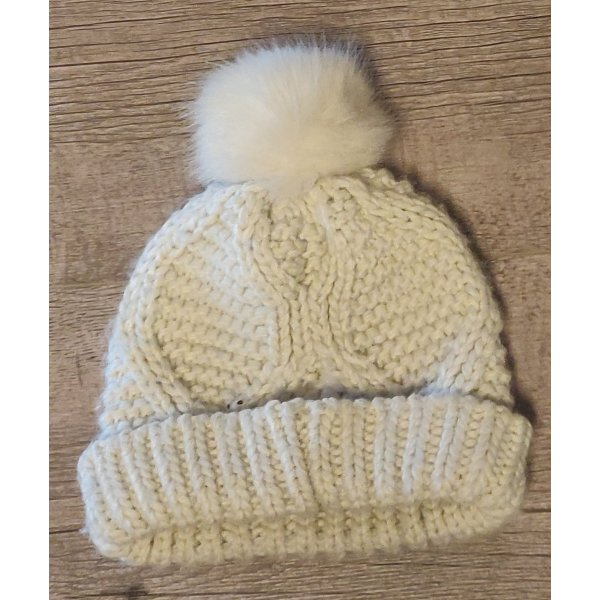 C&A Knitted Hat white-natural white
