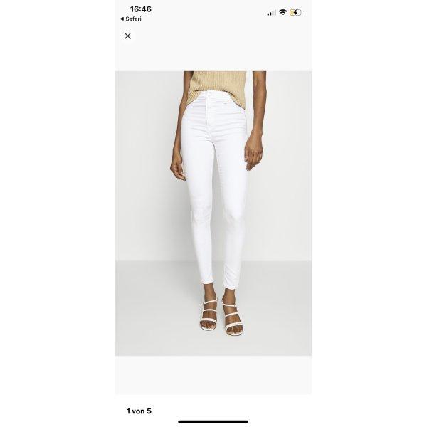 Weiße High Waist skinny Jeans