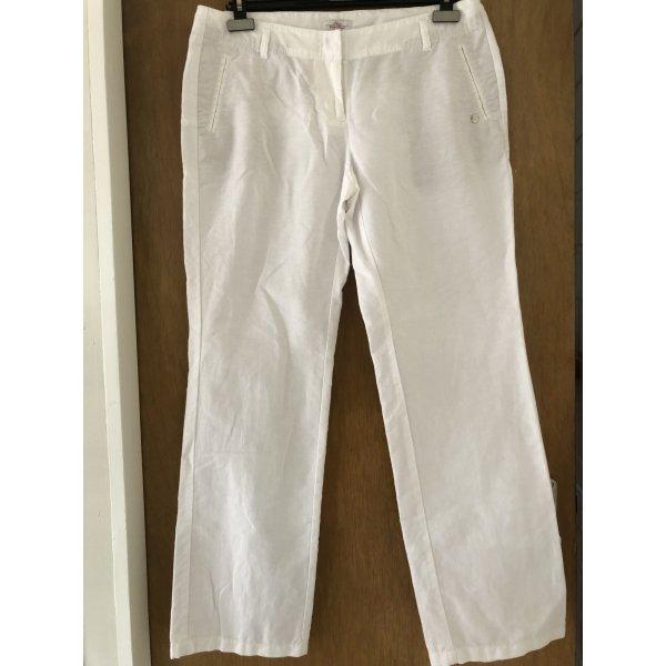 s.Oliver Linen Pants white