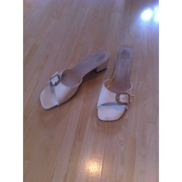 Sandalias para uso en exteriores blanco-color plata