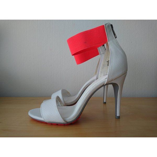 H&M High Heel Sandal white-neon pink