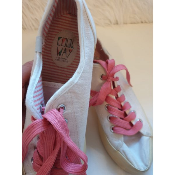 Weiße Sneaker Sportschuhe Gr. 40 von Cool Way