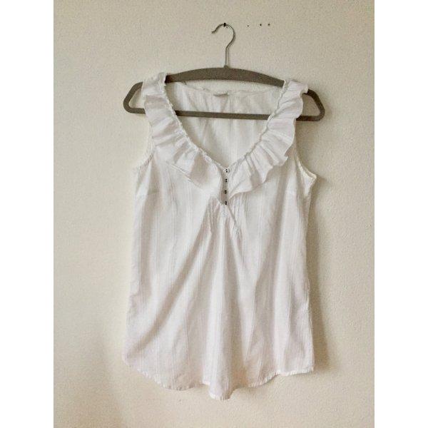 Esprit Blusa sin mangas blanco Algodón