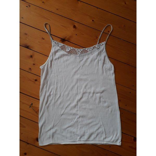 Weiße Spitzen-Camisole