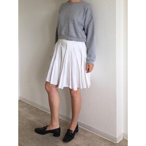 Prada Pleated Skirt white cotton