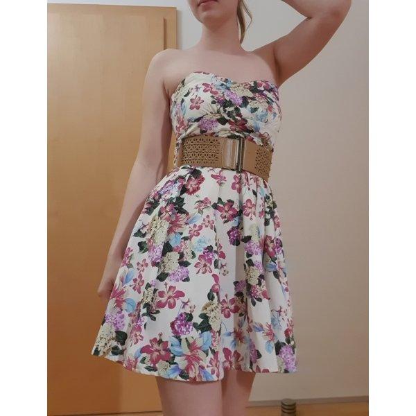 """weißes Kleid mit Blumen von """"Ann Christine"""" Größe S"""