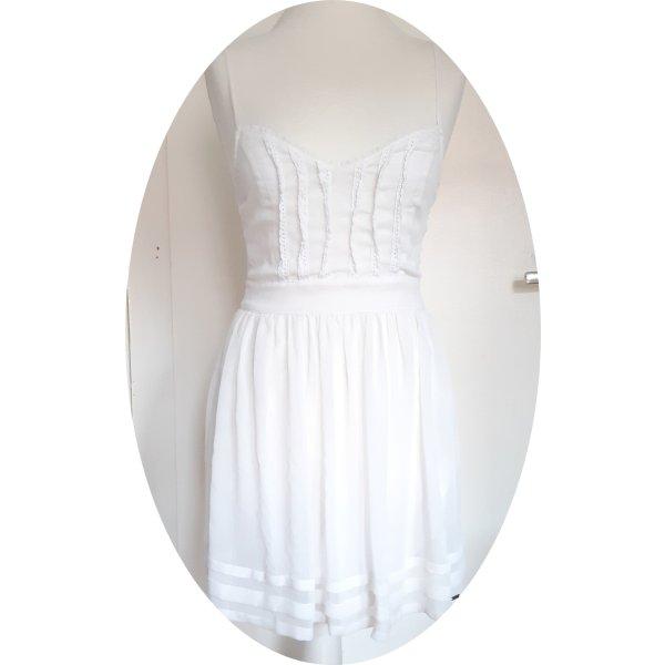 Weißes Kleid von Hollister mit Spitze