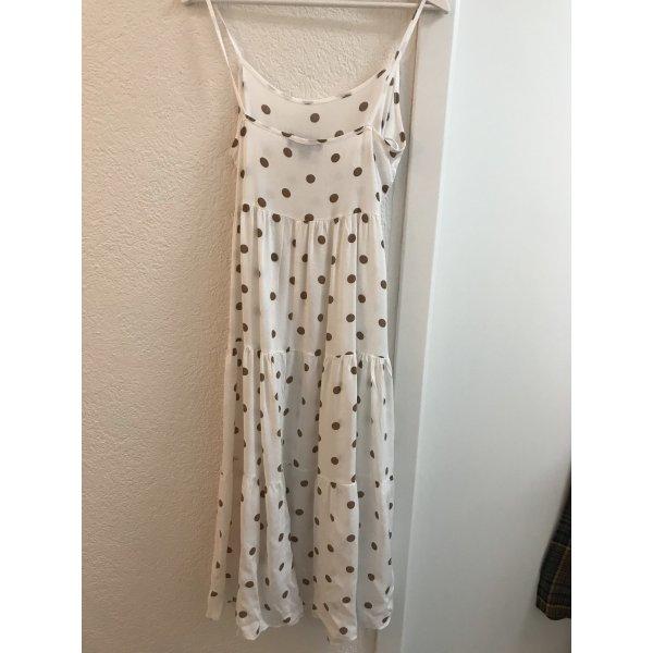 Primark Vestido tipo overol blanco-marrón