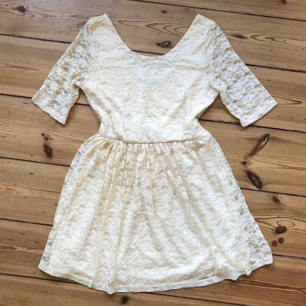 Topshop Vestido de tela de sudadera blanco puro