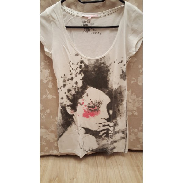 Weißes T-Shirt mit Aufdruck XS