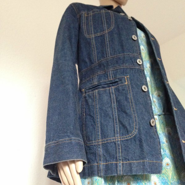 Welcome back! Jeansjacke in dunklem Denim