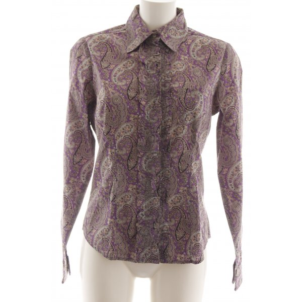 Wendy Stark Langarmhemd abstraktes Muster Business-Look