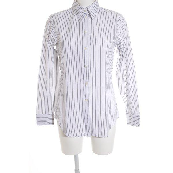Wendy Stark Langarmhemd stahlblau-weiß Streifenmuster Business-Look