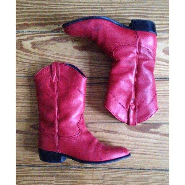 Western Boots Stiefel Cowboystiefel Cowboyboots rot Echtleder Office 38