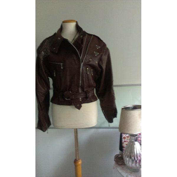 Whiteboys-Mauritius Lederjacke, 80er, Vintage, schokobraun, Vintage 80er