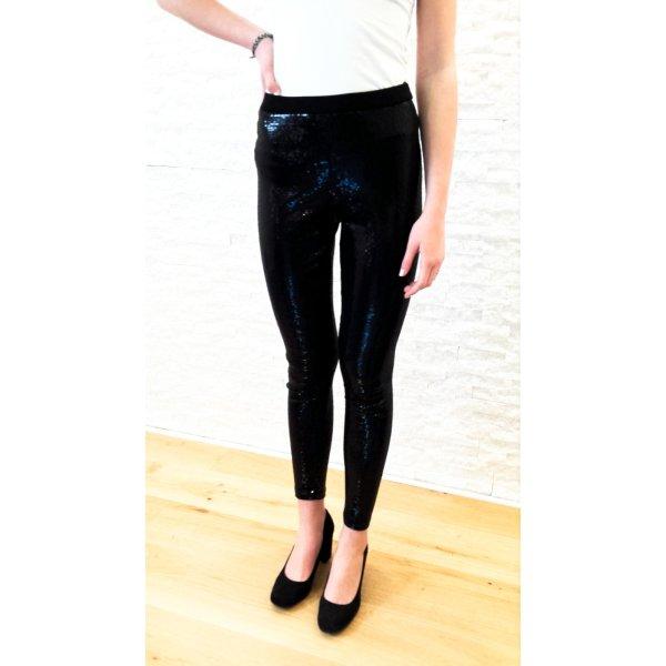 WHOOPEE!!!! Neuwertige trendy Pailletten Leggings, schwarz, Gr. S