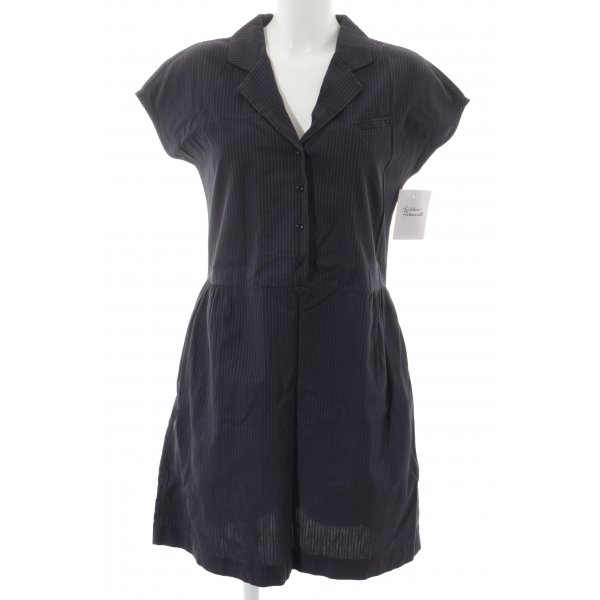 WHYRED Blusenkleid dunkelblau Streifenmuster Casual-Look