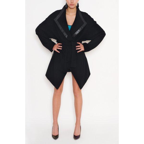 Wickelmantel, Oversize Look aus Wolle, Wrap Coat