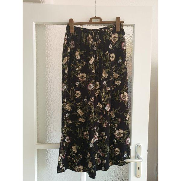 Wide Leg Culotte mit Blumenprint