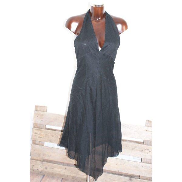 wie neu!!!  34 40 PRADA schönstes Luxus Kleid Neckholder Volant Schwarz ❀ jetzt alle Teile super reduziert :-)