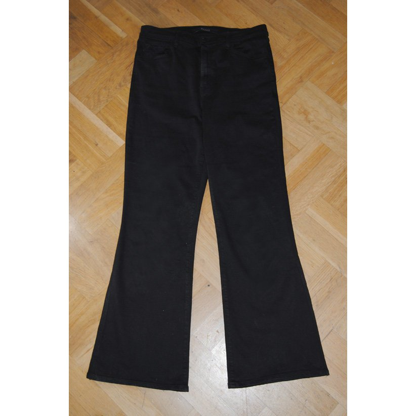 J brand Jeans a 7/8 nero Cotone