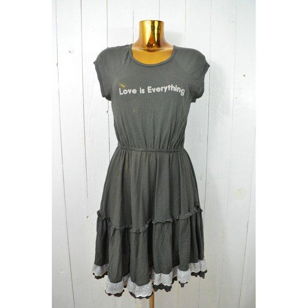 WILDFOX Kleid Jerseykleid LOVE IS EVERYTHING Charcoal Grau Baumwolle Jersey S