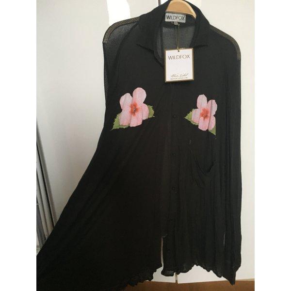 Wildfox NEU Super Sexy Baggy Damen Bluse in A Form mit Blumen Größe S