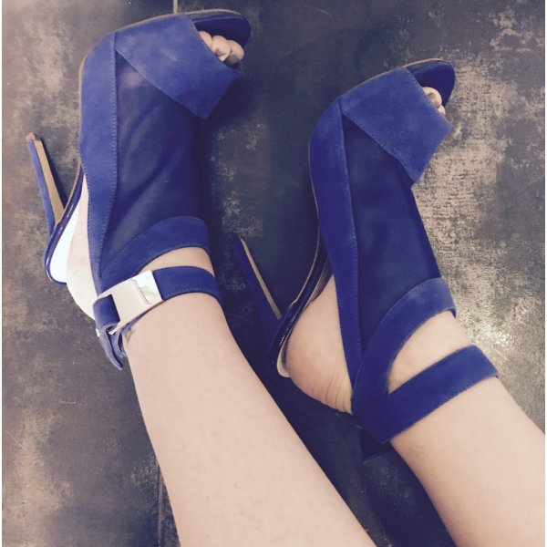 Guess High-Heeled Sandals blue