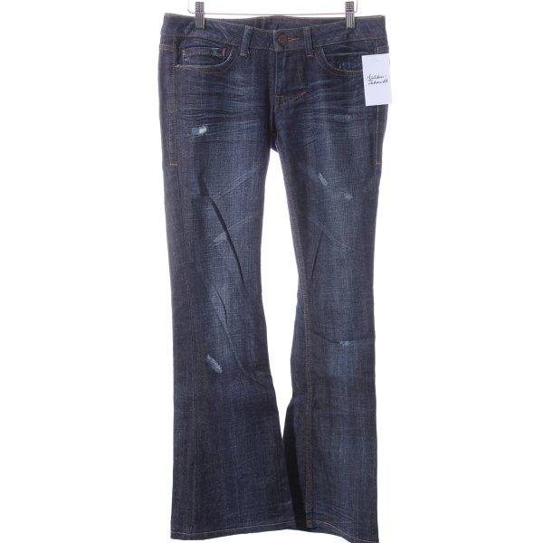 William Rast Boot Cut Jeans blau Street-Fashion-Look