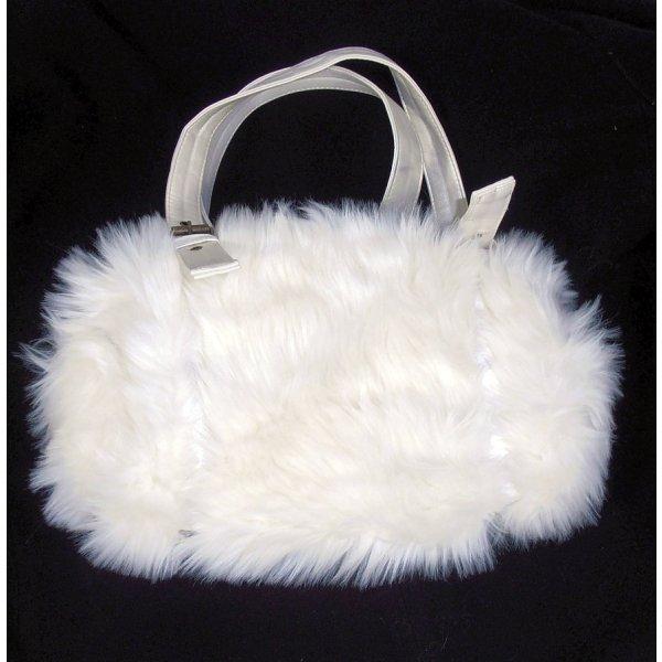 Winterlich kuschelige Fake-Fur Handtasche