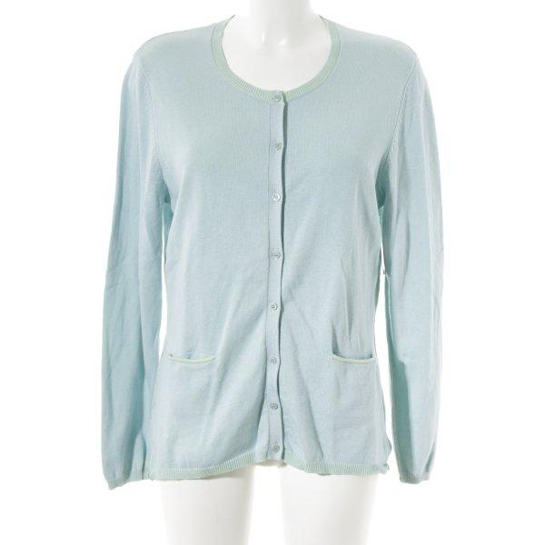 Witty Knitters Cardigan mint-babyblau schlichter Stil