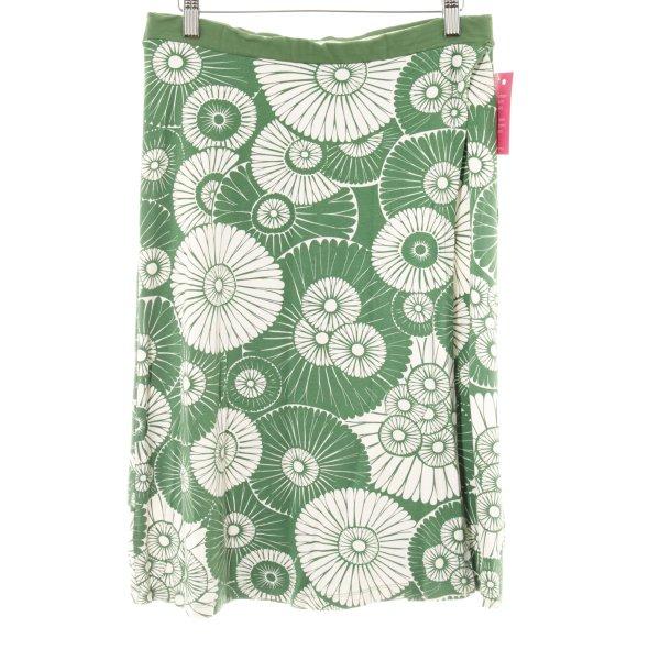 Wolford Stretchrock wollweiß-waldgrün Blumenmuster Street-Fashion-Look