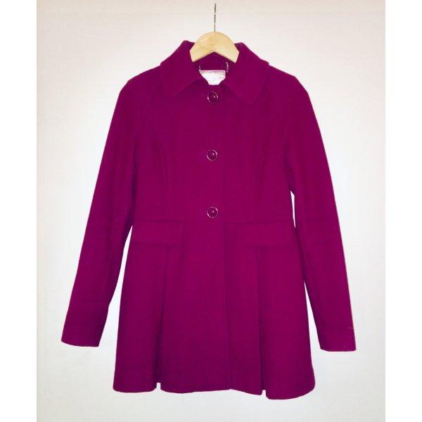 Kensie Abrigo de lana rojo frambuesa