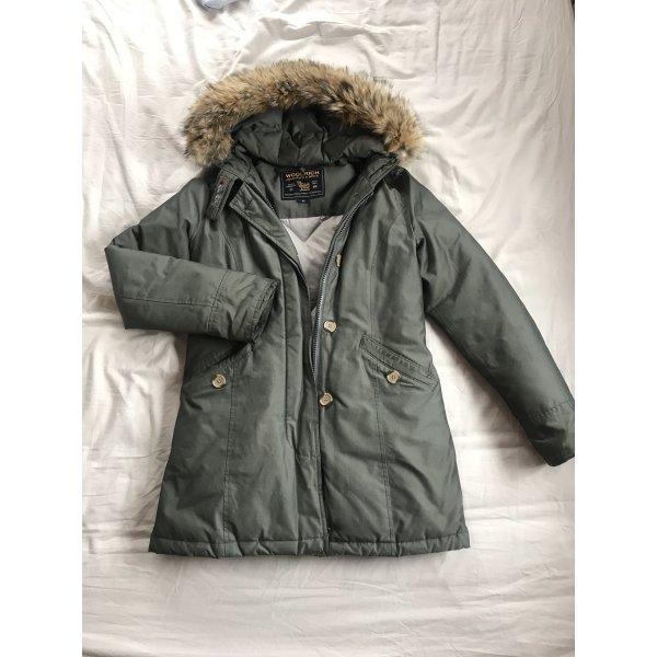 Woolrich Manteau d'hiver kaki-gris vert