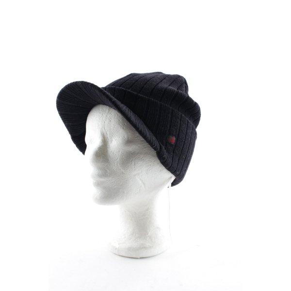 Woolrich Häkelmütze schwarz Casual-Look
