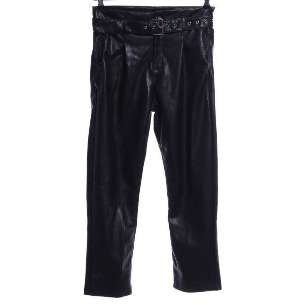 WRSTBHVR High-Waist Hose schwarz extravaganter Stil