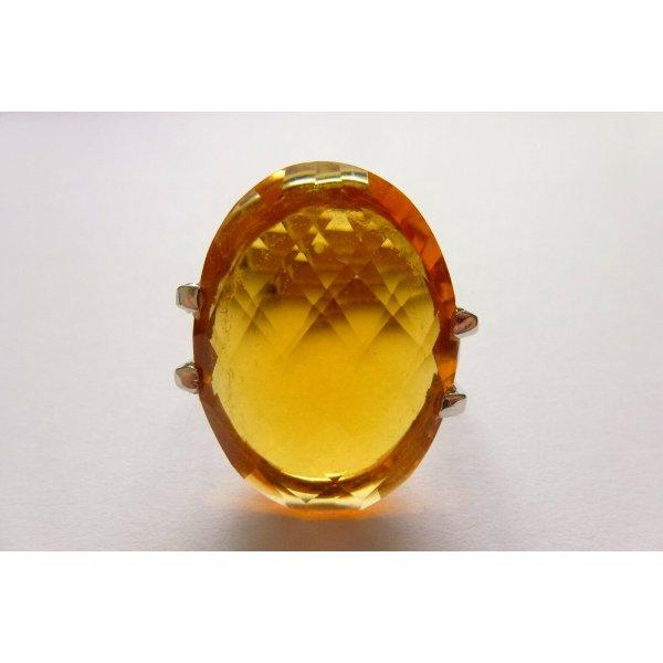 Wunderschöner edler dekorativer Ring, Silber, toller grosser geschliffener Citrin