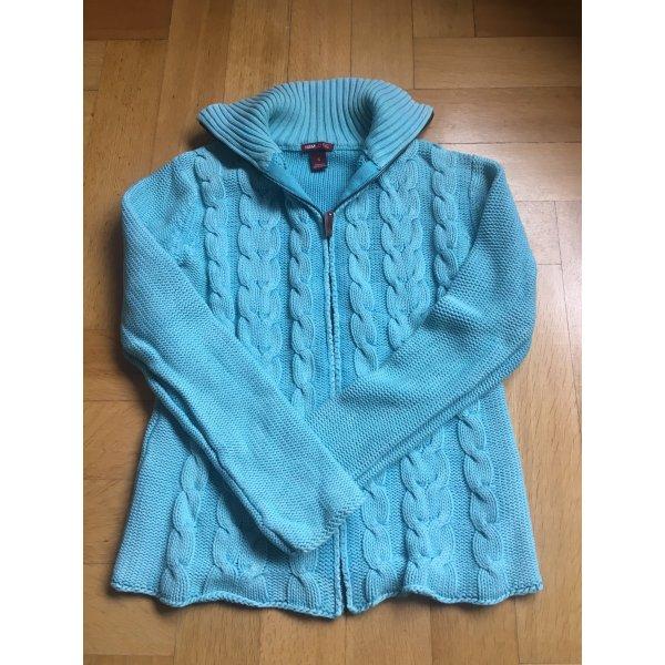 Wunderschöner Pullover in tollem türkis