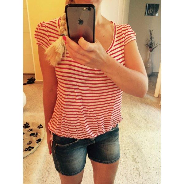 Wunderschönes rot weißes Shirt gr. 34 von promod