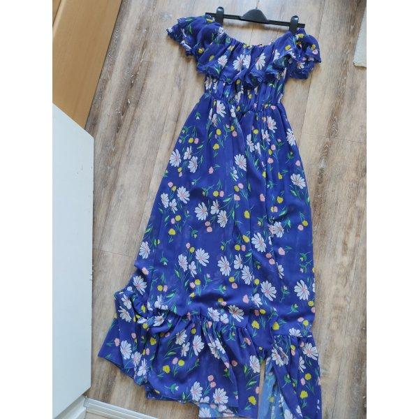 Wunderschönes Traumkleid schulterfrei mit Volants und Blumenmuster Topshop Gr. 34 NEU mit Etikett